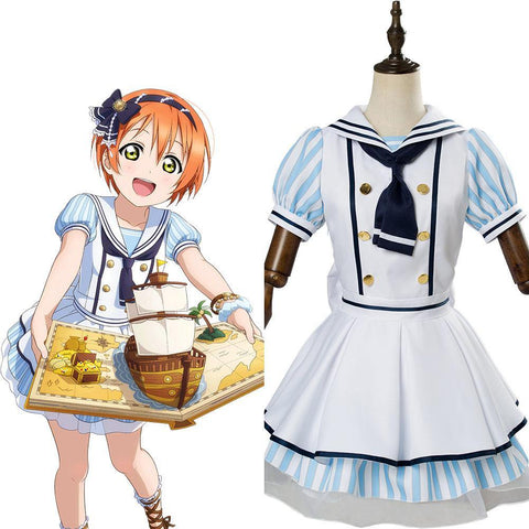 Love Live! School Idol Project µ's Rin Hoshizora  Pirate Ver. SR 1289 Cosplay Kostüm