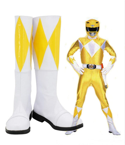 Mighty Morphin Power Rangers Trini Kwan Gelb Ranger Stiefel Cosplay Schuhe