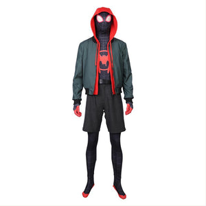 Miles Morales Spider-Man: Into the Spider-Verse Spider-Man: A New Universe Cosplay Kostüm Set