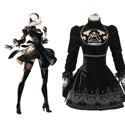 NieR:Automata 2B Uniform Kleid Cosplay Kostüm