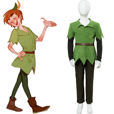 Nimmerland Neverland Peter Pan Neverland Cosplay Kostüm Set für Kinder