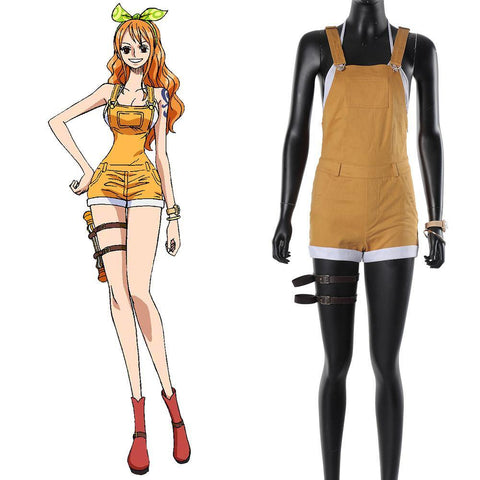 One Piece: Stampede Nami Suit Cosplay Kostüm T-Shirt