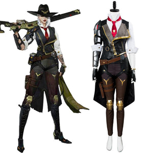 Overwatch Heroes Helden Ashe Cosplay Kostüm Set