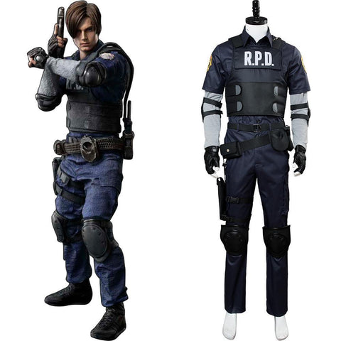 Resident Evil 2 Remake Re Leon Scott Kennedy Cosplay Kostüm NEU