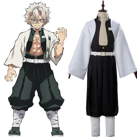Sanemi Shinazugawa Kimetsu no Yaiba Wikia Demon Slayer Wind Pillar Kostüm Cosplay Kostüm Set