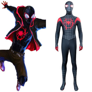 Spider-Man: Into the Spider-Verse Spider-Man: A New Universe Miles Morales Jumpsuit Cosplay Kostüm