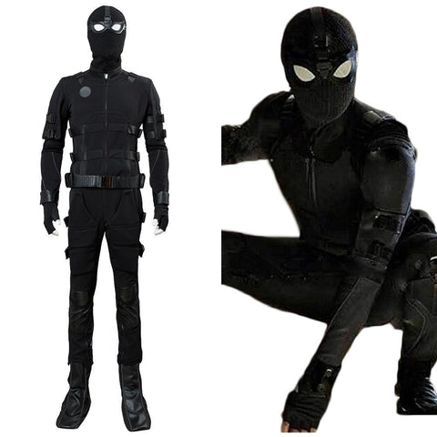 Spiderman Far From Home Spider-Man Noir Avengers Endgame Peter Parker Tom Holland Uniform Cosplay Kostüm - cosplaycartde