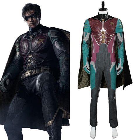 Teen Titans-Dick Grayson Robin Cosplay Kostüm Karneval Mottoparty