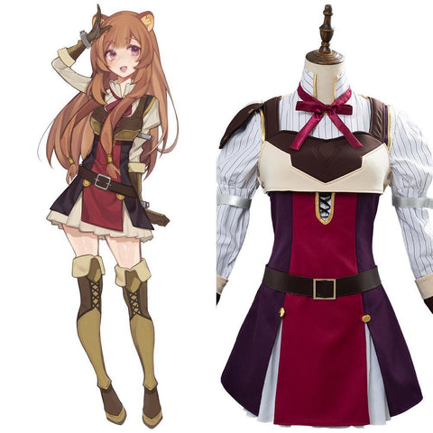 The Rising of the Shield Hero Cosplay Kostüm Raphtalia Kostüm