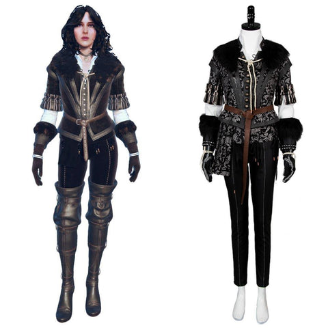 The Witcher 3 Wild Hunt Yennefer Outfit Cosplay Kostüm - cosplaycartde