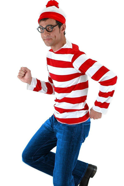 Where's Waldo Waldo Waldo & Friends Wo ist Walter? T-shirt Tee Langarm Cosplay Kostüm