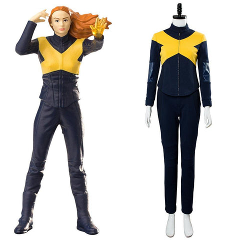 X-Men: Dark Phoenix Raven / Mystique Jumpsuit Cosplay Kostüm Version B