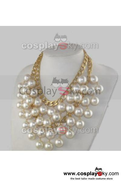 2 Broke Girls Caroline Double Layer Pearl Pendant Necklace