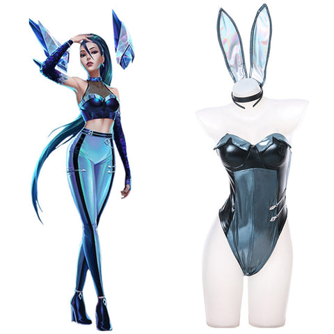 League of Legends LOL KDA The Baddest Kaisa Bunnygirl Cosplay Kostüm Halloween Karneval Outfits