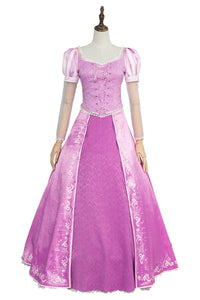 Tangled Prinzessin Rapunzel Kleid Lila Cosplay Kostüm Neu Version