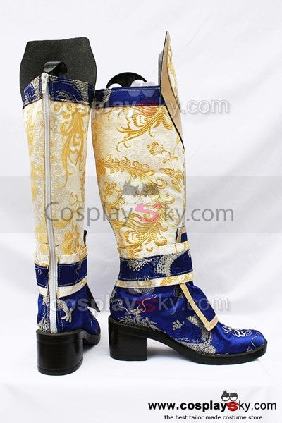 Dynasty Warriors Weiblich Version Yun Cosplay Stiefel Schuhe