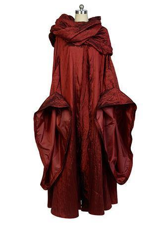 GoT Game of Thrones The Red Woman Melisandre Outfit Cosplay Kostüm - cosplaycartde
