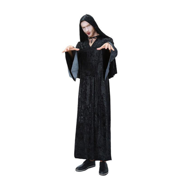 Halloween Dark Father Evil Demon Hexenmeister Clobe Cosplay Kostuem Schwarz