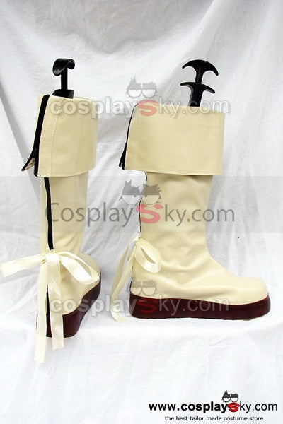 Macross Frontier Sheryl Nome Cosplay Stiefel Weiß