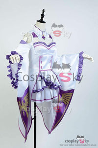 Re Zero Life in a Different World from Zero kara Hajimeru Isekai Seikatsu Emilia Outfit Cosplay Kostüm