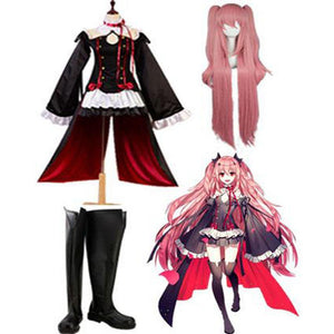 Seraph of the End Vampires Krul Tepes Cosplay Kostüm + Perücke + Stiefel - cosplaycartde