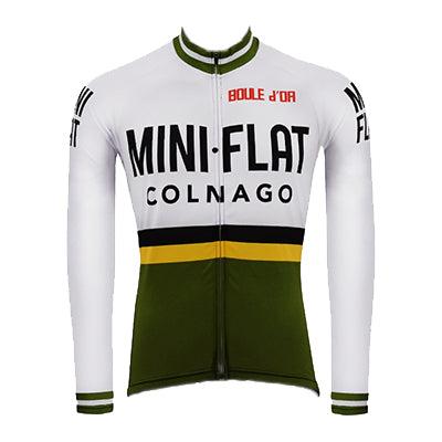 Maillot Cycliste VINTAGE Hiver MINI FLAT COLNAGO