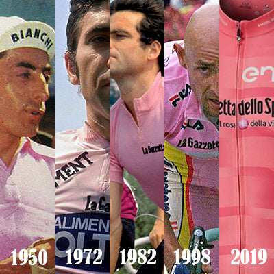 Les Maillots Vintage Roses du GIRO