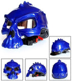 Casque Moto Bol Skull Face Bleu Brillant