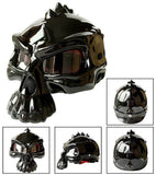 Casque Moto Bol Skull Face Noir Brillant