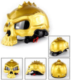Casque Moto Bol Skull Face Or Brillant