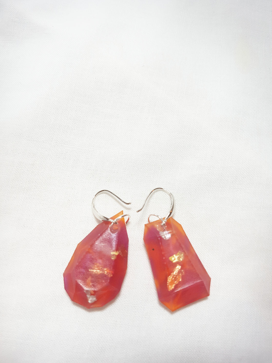 Peach Jewel Earrings