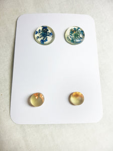 Blue & Gold Earring Pairs