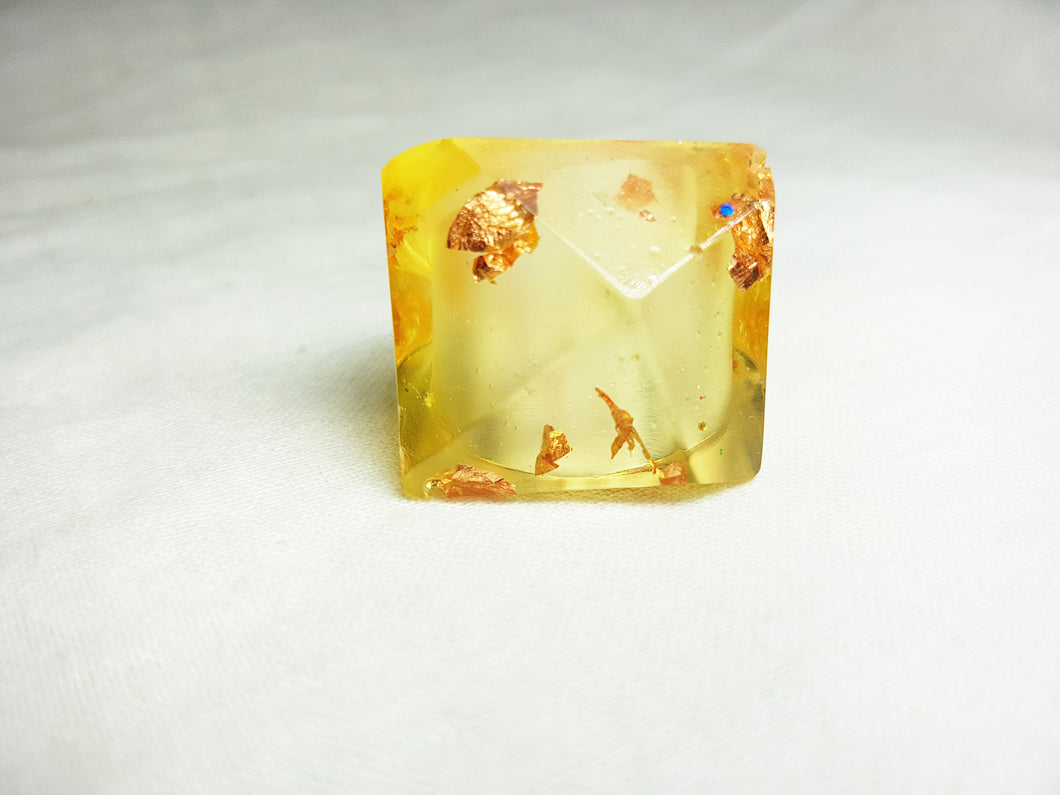 Large Retro Ring - Gold Leaf