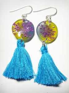Ocean Breeze Tassel Earrings