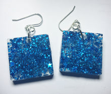 Blue Stars Glitter/Glow Earrings