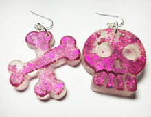 Skull & Bones Earrings - Pink