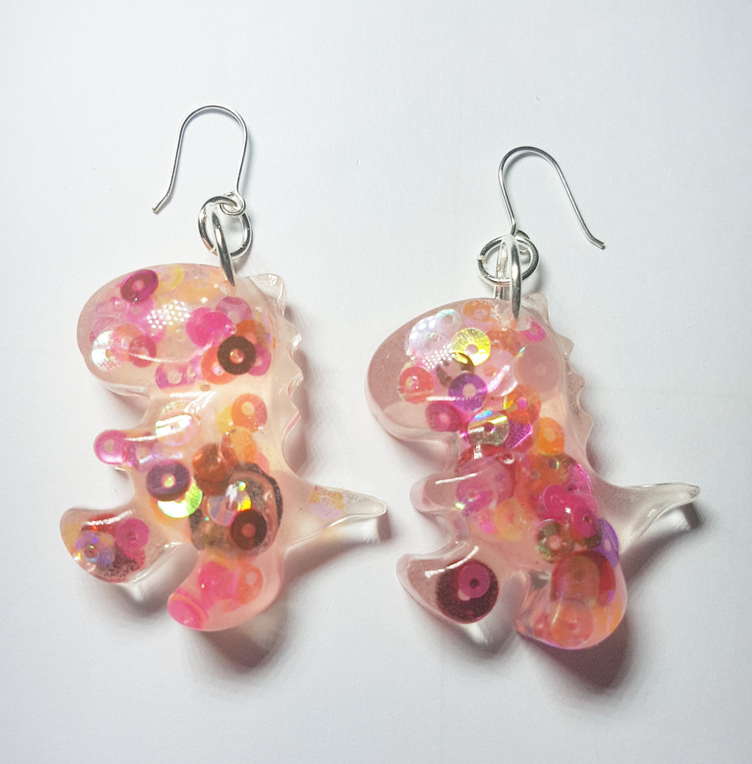 Pinkysaurus Earrings