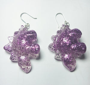 Purplesaurus Earrings