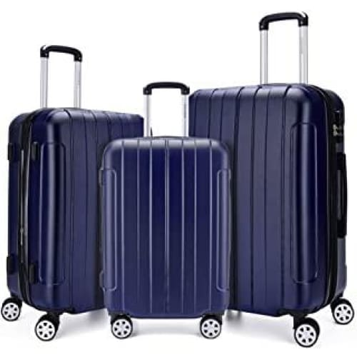fochier bagages 3 pieces extensible carapace spinner valise legere 2