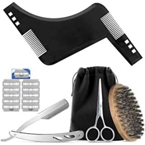 hifot kit de toilettage barbe 5pcs jeu coupe homma 291