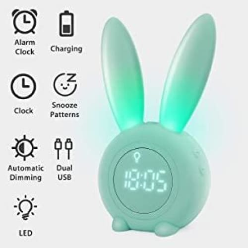 homealexa reveil matin a induction en forme de lapin mignon intellig