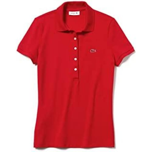 lacoste polo rouge taille femme pf7845