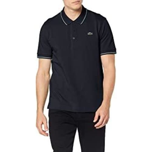 lacoste polos marine lierre blanc homme yh7900