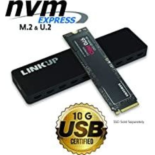 linkup nvme enclosure m 2 ssd to usb c 10gbps adapter aluminum case