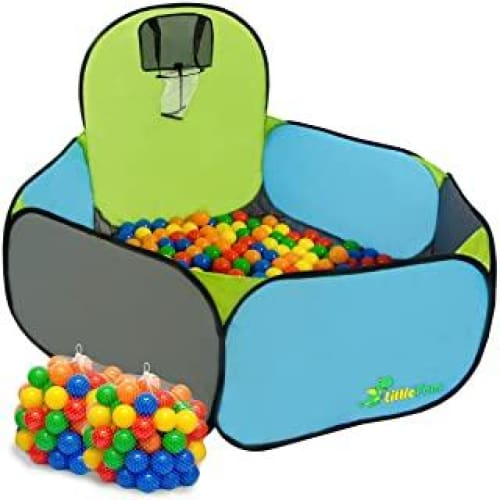 littletom piscine a boules pop up pour jouer au basket 120x100cm inc