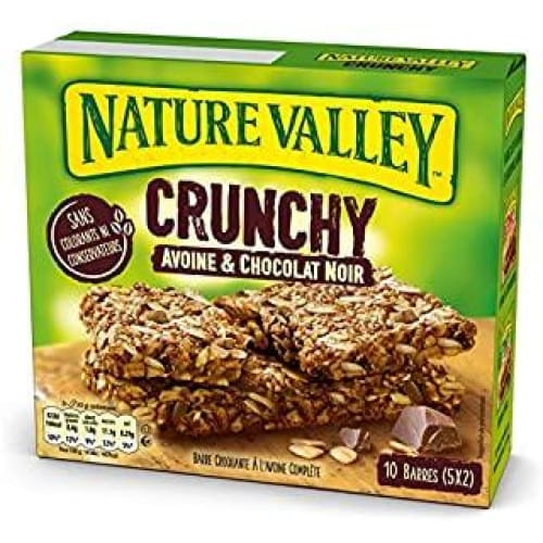 nature valley barres de cereales crunchy avoine chocolat noir bo