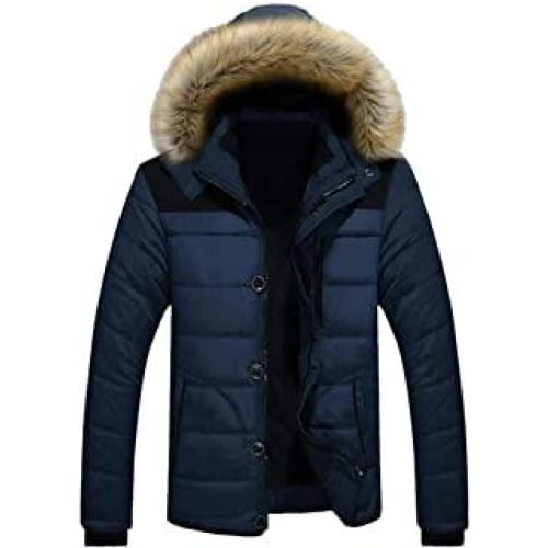 oeak doudoune homme capuche fourrure artificiel manteau manches long