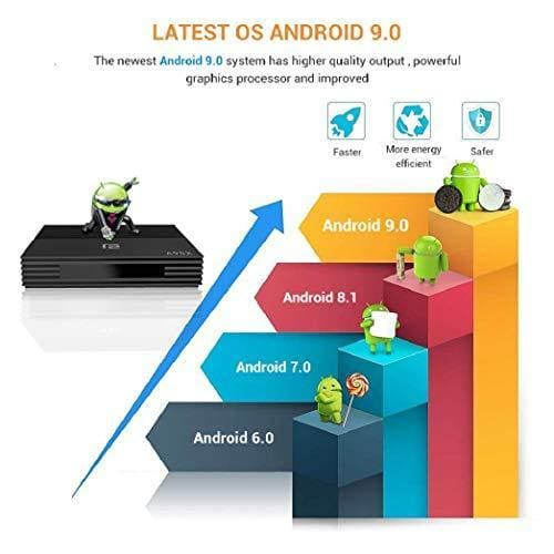 okeu android 9 0 tv box 4k boitier 4gb ram32gb rom usb 3 amlo