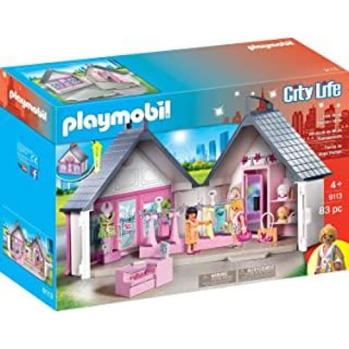playmobil 9113 jeux de constuction magasin mode take along fa