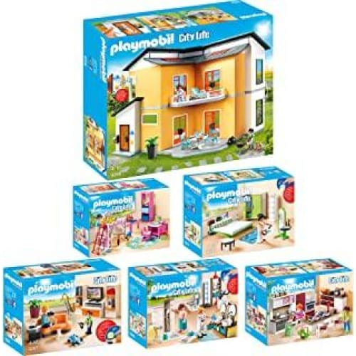 playmobil city life set en 6 parties 9266 9267 9268 9269 9270 9271 v